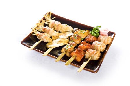 varous kind of barbecued chickenYakitoriJapanese food