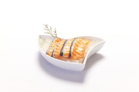 redfish: sliced salmon