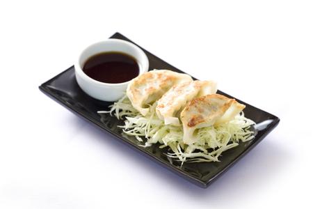 gyoza: Fried Gyoza, dumplings popular japanese food.