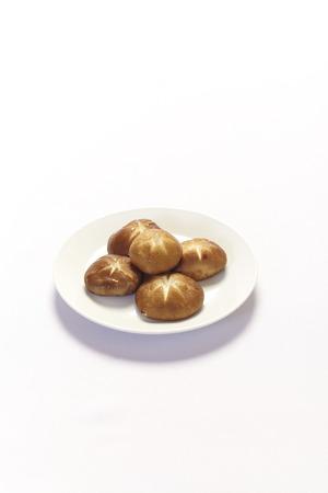 shitake: Shitake Mushroom on White Background Stock Photo