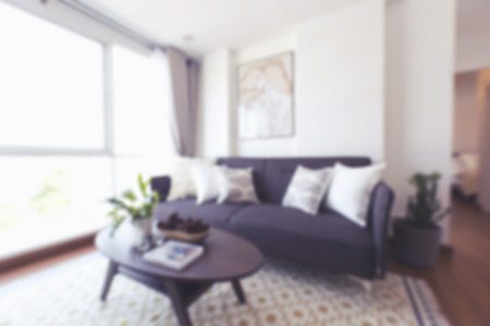 couches: Blurred Living Room with Couches Stock Photo