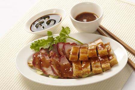duck egg: BBQ Pork over Rice with Sweet Gravy Sauce