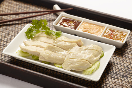 Hainanese Chicken rice with sauce