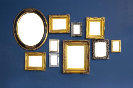 photo album: Art gallery interior with empty frames
