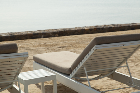 daybed: cozy daybed on the beach