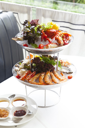 seafood platter: seafood platter. Stock Photo