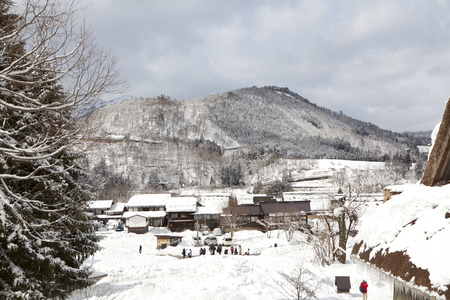 gassho zukuri: Historic Village of Shirakawa-go in winter