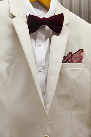 Close up detail of a business suit