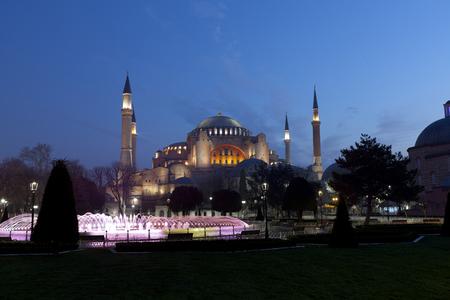 the Hagia Sophia in Istanbul, Turkey