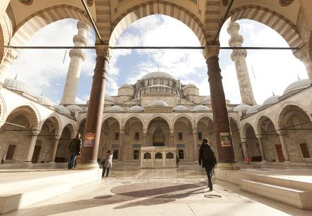 Suleymaniye Mosque in Istanbul. Turkey Editorial
