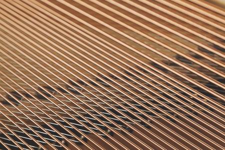 classical mechanics: string piano detail