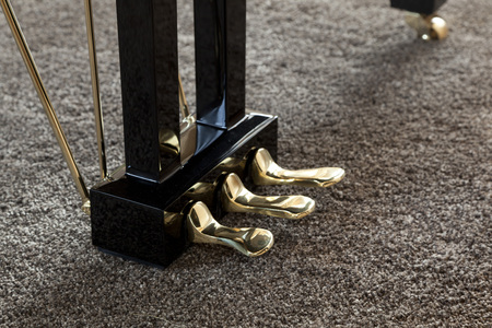 upright piano: Piano pedals detail