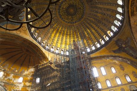 interior of Hagia Sophia Editorial