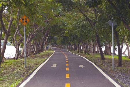 Straßenabdeckung mit Baum im Park