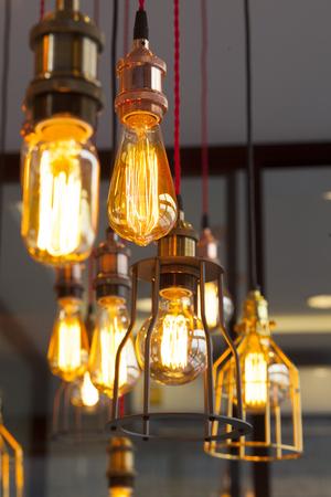 edison: old vintage light bulb