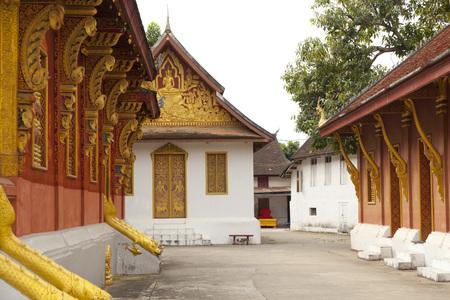 Wat Sene temple in Luang Prabang, Laos Stock Photo