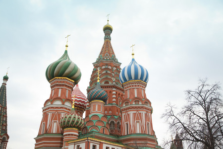 Saint Basils Cathedral in Red Square, Moscow, Russia.