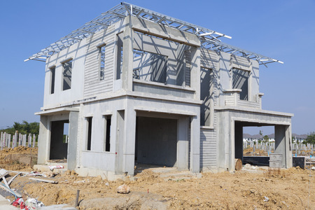 New residential construction home