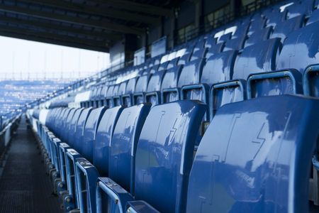 Lege stoel in het stadion
