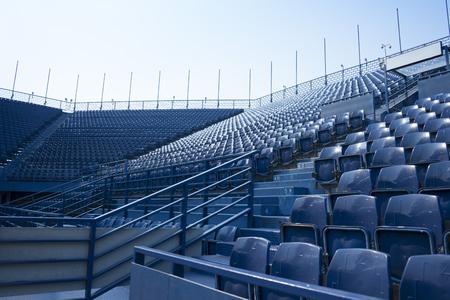 lege stoel in het stadion Stockfoto
