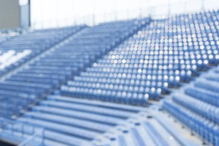 wazig beeld van lege stoel in het stadion