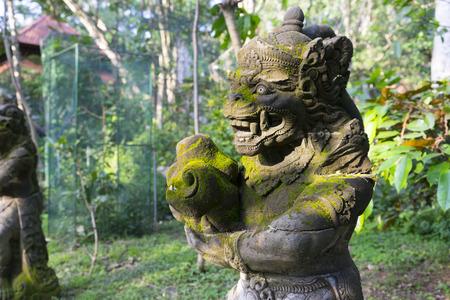 Statue Of Hindu Monkey God, Ubud, Indonesia Stock Photo