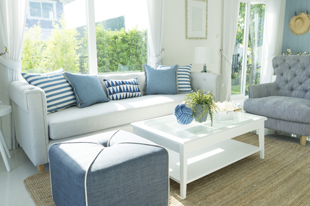 contemporary living room: Tropical Beach Themed Living Room