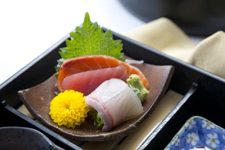 Japanese bento set Stock Photo