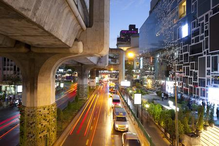 traffic at Siam Square, Bangkok, Thailand Editorial