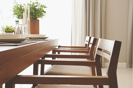 dinning table set at home Stock fotó