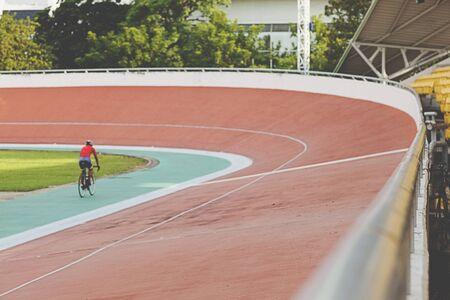 Professional beautiful cycle track. Velodrome Stock Photo - 89211113