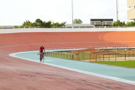 Professional beautiful cycle track. Velodrome Stock Photo - 89238260