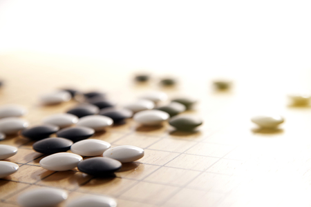 Gaan. Traditionele Aziatische strategie bordspel. Stockfoto