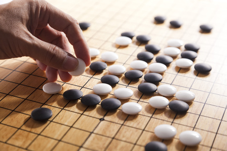 Go. Traditional asian strategy board game. 免版税图像 - 89997402