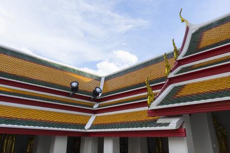 Classical Thai architecture in Wat Pho Bangkok Thailand.