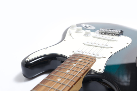 Electric Guitar Close Up with white background.