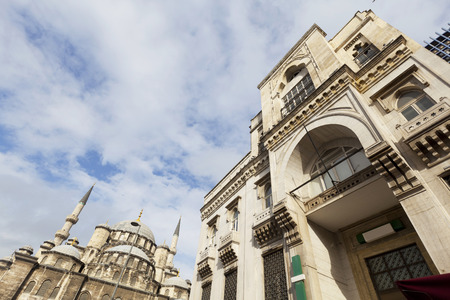Low angle view of a historical building in Istanbul, Turkey