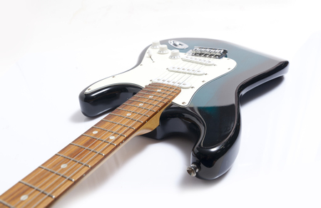 Close Up Detail Of An Electric Lead Guitar