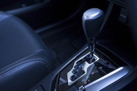 Automatic gear stick of a modern car