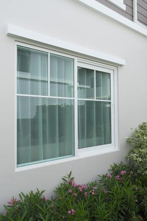 Wall and large window Stockfoto