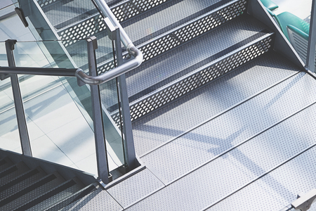Modern architecture steel stairs construction