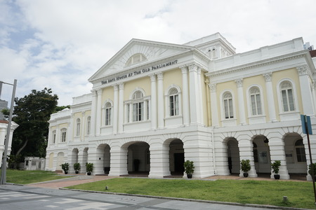 The Beautiful Arts House (formerly Old Parliament House) Building Locates in Civic District Singapore in Singapore Editorial