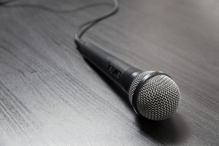 Close up Microphone on the table