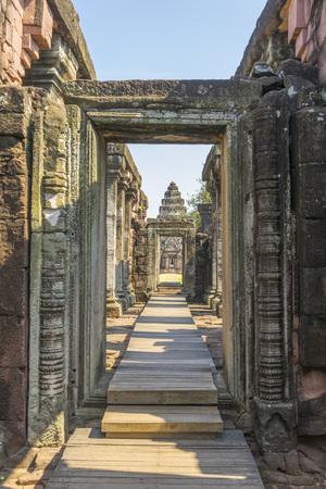 corridor inside Prasat Hin Phimai historical Park in Nakorn Ratchasima, Thailand