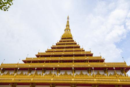 The famous pagoda of Wat Nongwang in Khon Kaen, Thailand.