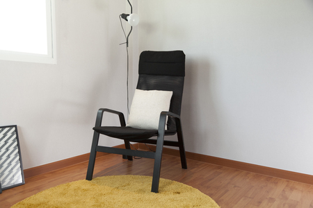 Scandinavian space to relax black armchair