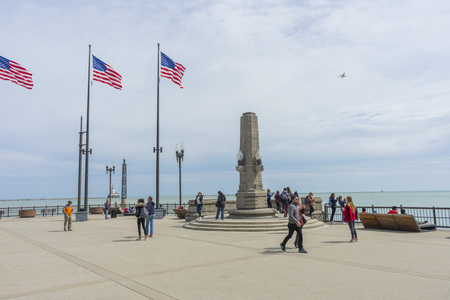 Navy Pier on sunny day in Chicago,Illinois,USA