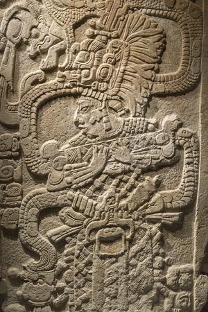 Base relief of Mayan stone carving Reklamní fotografie