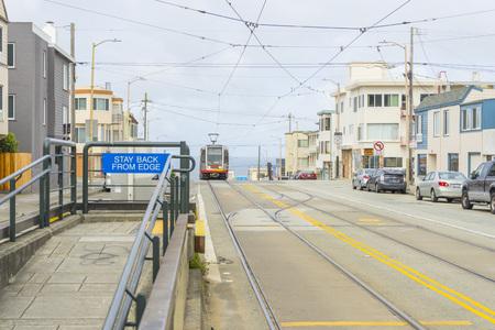 MUNI train of San Francisco,USA.