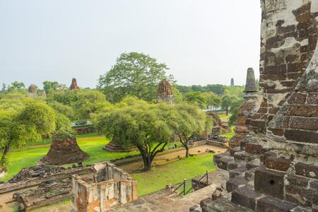 old pagoda of Wat Ratchaburana temple in Ayutthaya, Thailand 免版税图像
